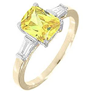 2.62 cw Bright Yellow CZ Gold Overlay Fashion Ring (4)