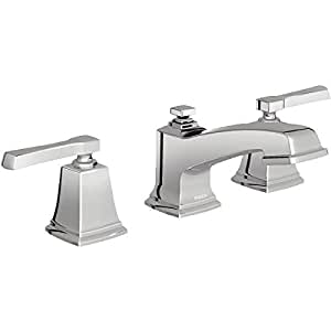 Moen 84820 double handle widespread bathroom faucet from the boardwalk collection chrome Amazon bathroom faucets moen