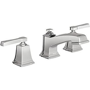 Moen 84820 Double Handle Widespread Bathroom Faucet from the Boardwalk  Collection  Chrome. Moen 84820 Double Handle Widespread Bathroom Faucet from the