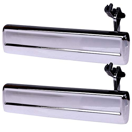 OCPTY Chrome Door Handles Exterior Driver Left Side Replacement fit 1982-1996 Oldsmobile Cutlass Outside Door Handles(2pcs) ()