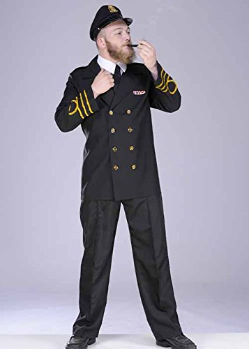 1940s UK and Europe Men's Clothing – WW2, Swing Dance, Goodwin MagicBox Adult 1940s Wartime Navy Captain Officer Costume Large (42-44 chest) £34.99 AT vintagedancer.com