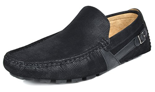 Bruno Marc Men's KENDO-02 Black Penny Loafers Moccasins Shoes Size 15 M US