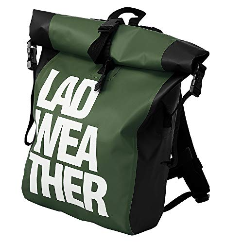 LAD WEATHER Waterproof Backpack 25L Roll top Urban Style Cycling Hiking Dry Bag Daypack 13 inch Laptop Pocket