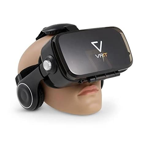 a48ee0bf2cd VRIT V2 the Top VR Smartphone Headset Set - 3D Virtual Reality Glasses with  built in