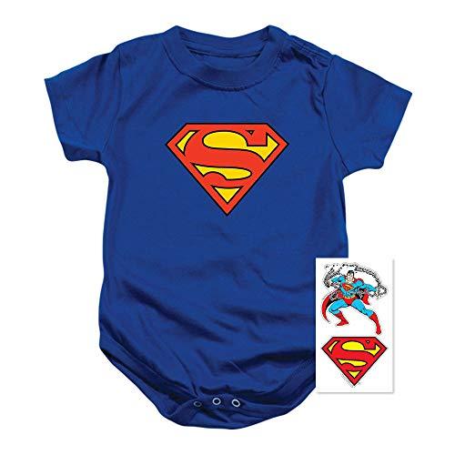 Superman Classic Logo Baby Onesie Bodysuit (24