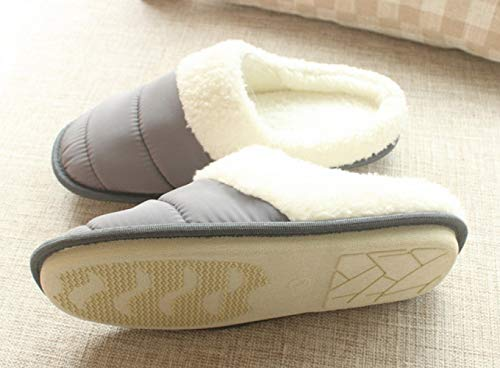 and Cloth Slippers Home Home DEED Winter Autumn Warm Slippers Couple ski Grey Slippers Cotton Velvet Slip Indoor FwxYEY8t