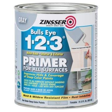 Zinsser Bulls Eye 1-2-3 32 Oz Water-Base Interior/Exterior PrimerandSealer 4PK