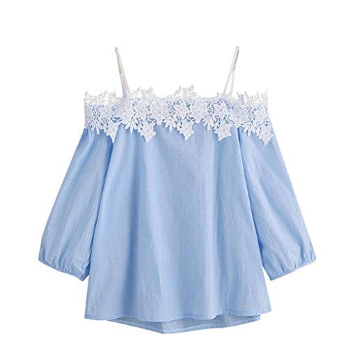 HOT Sale! Women Blouse,Canserin Women's 2017 Fashion Off Shoulder Lace T-Shirt Short Sleeve Blouse Tops