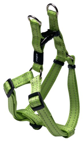 Rogz Utility Medium 5/8-Inch Reflective Snake Adjustable Dog Step-in-Harness, Lime, My Pet Supplies