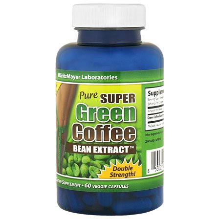 PURE SUPER GREEN COFFEE BEAN EXTRACT 800 мг 60 Veggie шапки