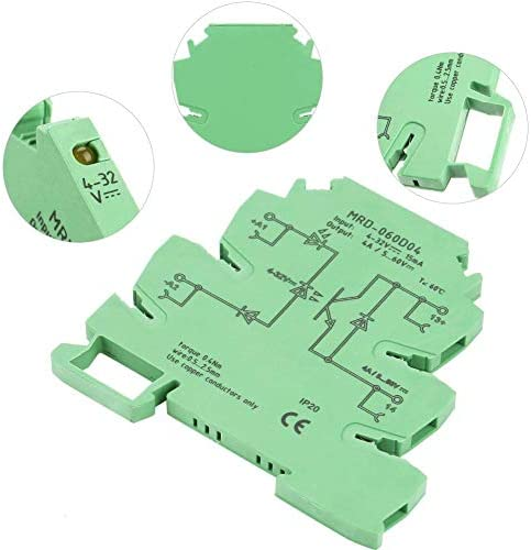 ZT-TTHG 超薄型PLCリレー、MRD-060D4超薄型PLCリレーパワーアンプボードDCソリッドステートリレーモジュールインターフェースリレーモジュールパワーアンプボードリレーモジュール耐衝撃性