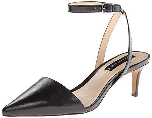 STEVEN by Steve Madden Women's Caydence Dress Sandal,Black Leather,7.5 M US