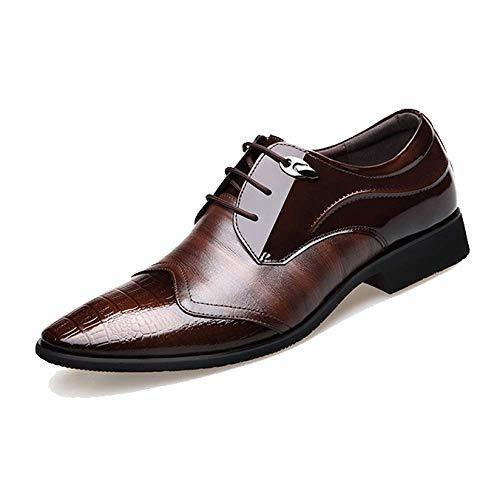 Stringate Verniciata in Brown Pelle Moda Pelle Inglese Scarpe in Uomo da Scarpe Stile 8qUHwZxTFn