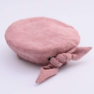 9c3ddc099 Amazon.com: FelixStore Korean Beret Hat Flat Cap Bow Beret Pink ...
