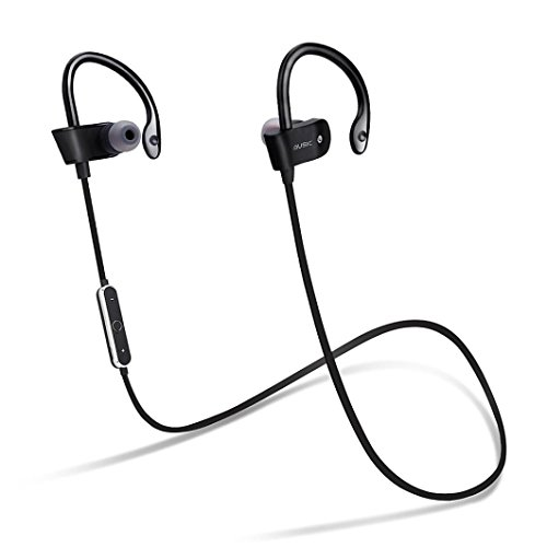 Price comparison product image GBSELL Wireless Bluetooth Headset Sport Sweatproof Stereo Headphone Earphone For iPhone Samsung (Black)