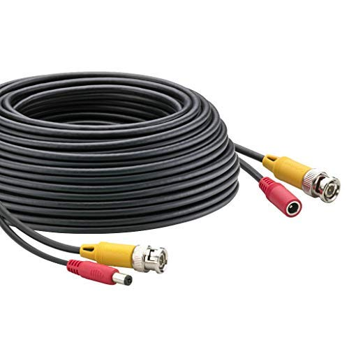 50-Foot BNC Video 2.1mm DC Power Extension - Dc 50ft Cord