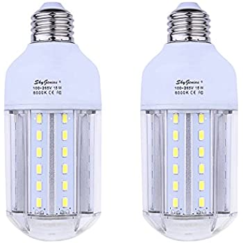 15W Daylight LED Corn Light Bulb 100W Incandescent Replacement - E26 Socket 1500Lm Bright 6500K  sc 1 st  Amazon.com & 35W Daylight LED Corn Light Bulb for Indoor Outdoor Large Area ... azcodes.com