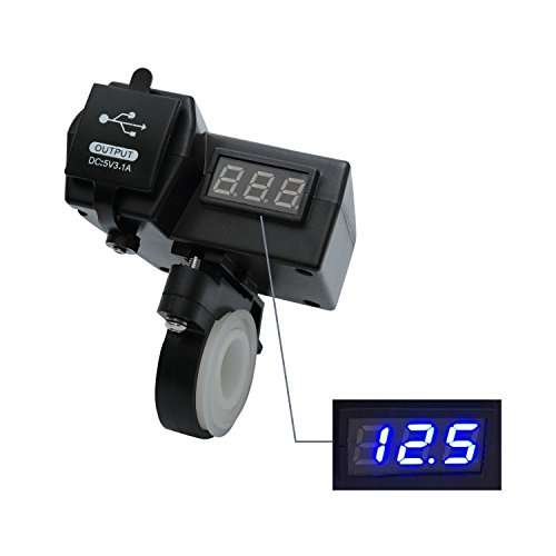 Motorcycle Charger Voltmeter Switch JARDLI product image