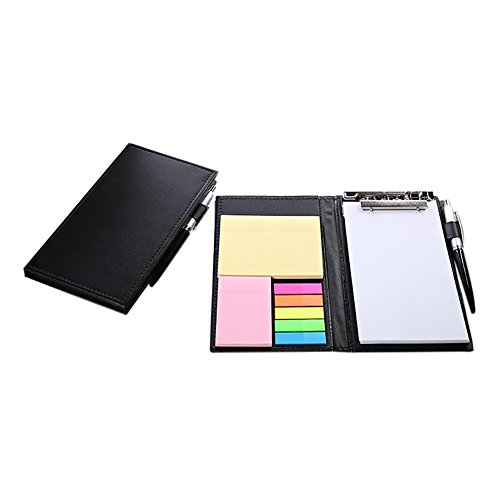 Memo Pad Ball - Sticky Notes Notebook,Aimeio Leather Cover Page Marker Bundle Set with Colorful Index Tabs Flags,Memo Pad and Ballpoint Pen for Office Home Use