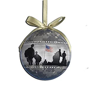 United States Army Military Decoupage Hanging Christmas Ornament