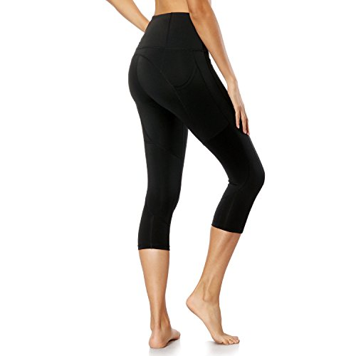 Crafeel High Waisted Yoga Pants Fitness Gym Workout Athletic Leggings Running Tights with Pockets