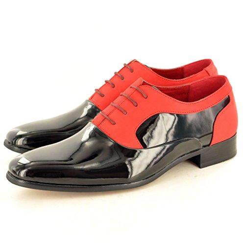 Spitze Herren Glänzend bis Black Red Schuhe Zank Patent Funky Gatsby Vintage qqp4Br