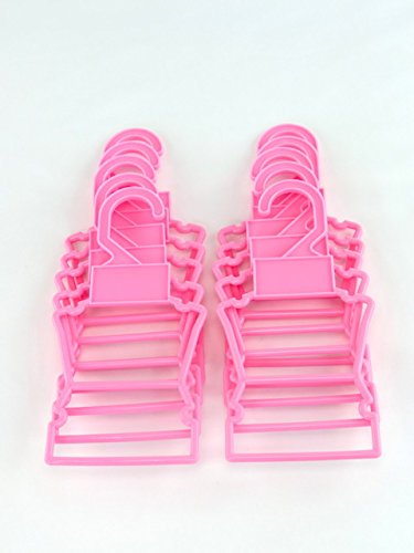 """American Fashion World Pink Display Hangers Pack of 10 Fits 14.5/"""" Wellie Wisher Clothes"""