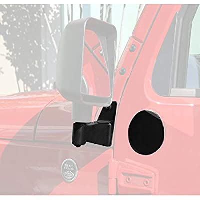 Rugged Ridge 11025.04 Black Mirror Relocation Bracket - Pair for 2007-2020 Jeep Wrangler JK: Automotive [5Bkhe0111360]
