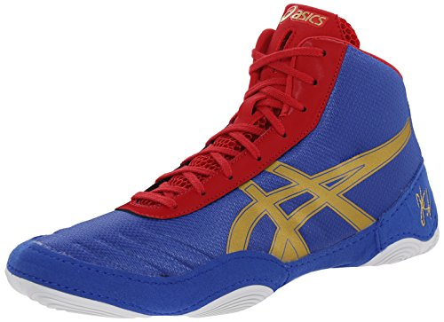 Scarpa da wrestling JB Elite V2.0 da uomo, Jet Blue / Olympic Gold / Red, 11 M US