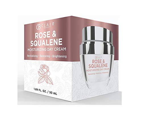 CLAIR BEAUTY Rose & Squalene Anti Aging Day Cream - Deeply Moisturizes | Replenishes Skin | Reduces Appearance Of Wrinkles and Fine Lines - 50mL