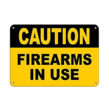 amazon com bedroom door sign caution firearms in use security sign