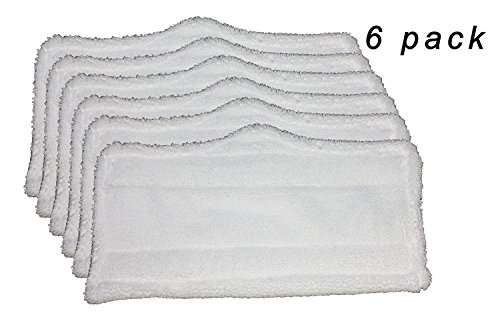 Qualtex 6 pc Microfiber Pads (XT3101) for Shark Steam Mop S3101, S3250, S3202