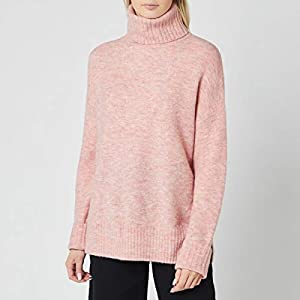 Whistles Women's Oversized Roll Neck Knitted Jumper – Pale Pink – S
