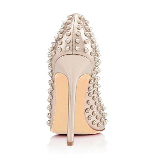 Pumps Toe JOOGO Fashion Silver Rivet Stiletto Women's Decoration Pointed q0qXO6