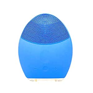 USA Doll Facial Cleansing Brush and Massager Silicon Vibrating Waterproof - Blue