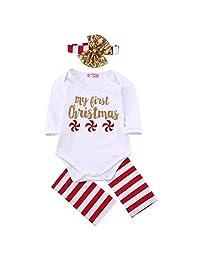 Weixinbuy Newborn Baby Boy Girl Christmas Pattern Bodysuit Romper Jumpsuit Outfits