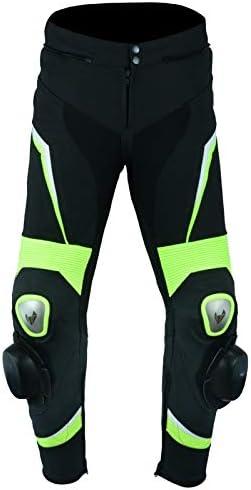 Unisex S LOVO Pantalones de cuero para moto
