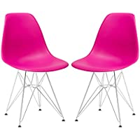 Poly and Bark Padget Side Chair, Fuchsia, Set of 2