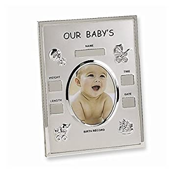 Amazoncom Metal Birth Record 35x45 Photo Frame Baby