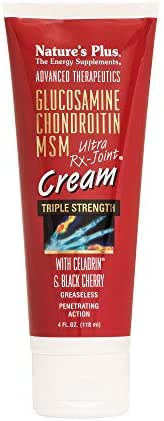 NaturesPlus Advanced Therapeutics Triple Strength Ultra Rx-Joint Cream with Celadrin & Black Cherry - 4 oz Tube - Greaseless - Penetrating Action