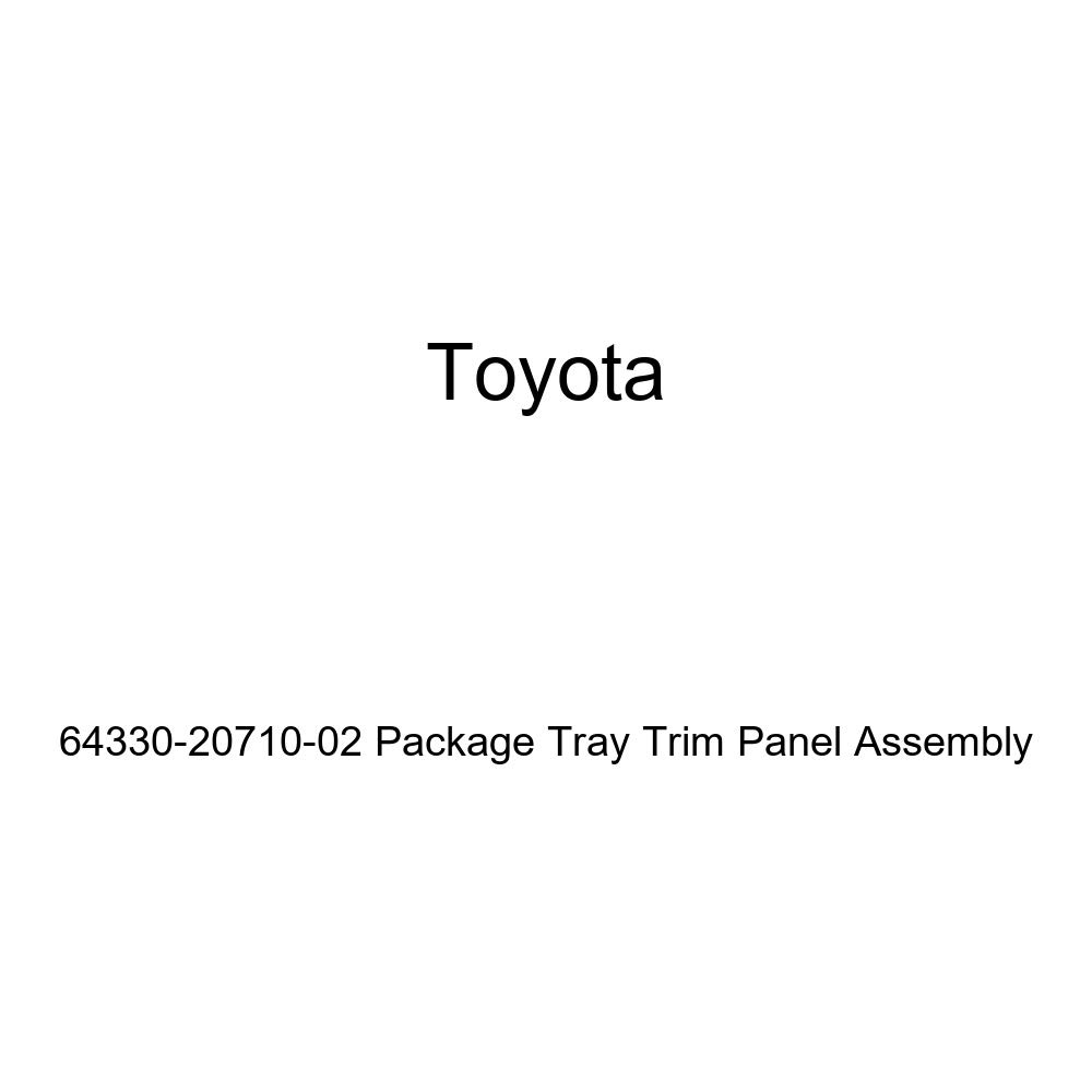 Toyota Genuine 64330-20710-02 Package Tray Trim Panel Assembly
