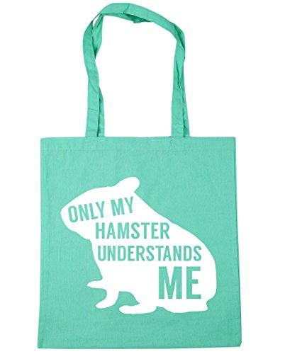 HippoWarehouse solo mi hámster entiende me Tote Compras Bolsa de playa 42cm x38cm, 10litros verde menta