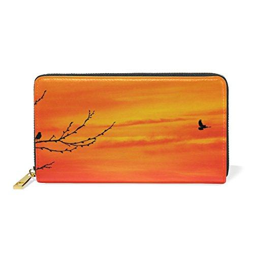 Squirrel Zip Valentine's Purses Handbags TIZORAX Organizer Sunset Day Wallet Love Around Womens And At Clutch q7nd8EdZwx