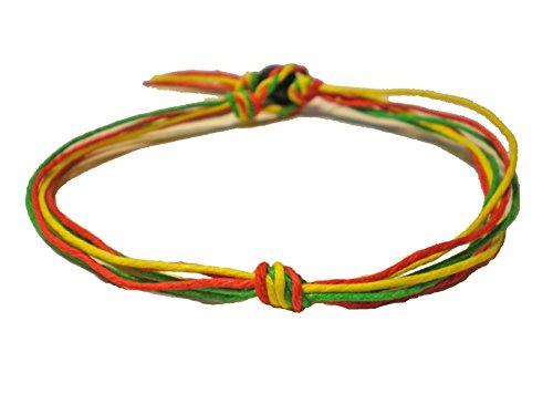 Rasta Love Knot Six String Hemp Anklet – Handmade
