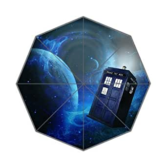 Doctor Who Custom Auto plegable lluvia paraguas resistente al viento resistente al viento Floding Travel paraguas