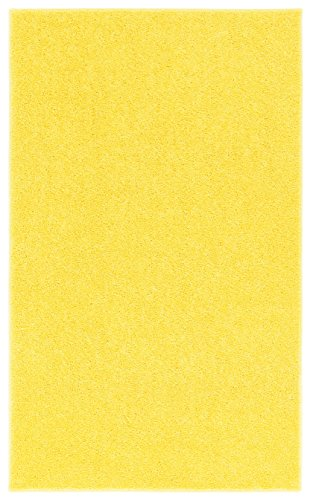 Nance Industries OurSpace Bright Area Rug, 7-Feet 10-Feet, Sunshine Yellow - Plush 10' Bright Eyes