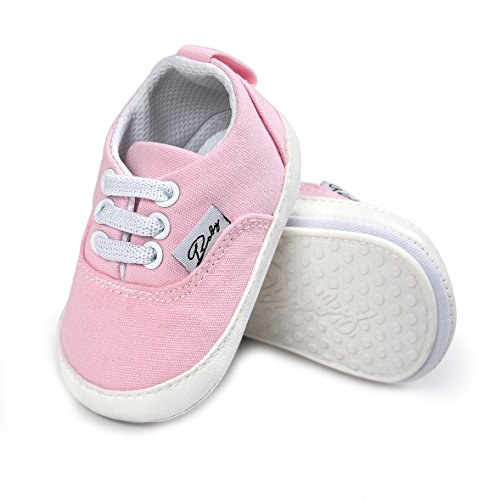 (Baby Canvas Shoes - Infant Girls Boys Sneakers Anti-Slip Toddler First Walkers Slip On Newborn Crib)
