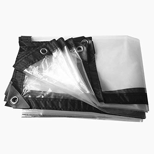 哀文字七時半QIANGDA トラックシート荷台カバー防水 透明 フロア 植物カバー テントプラスチックフィルム ポリエチレン、 (180g / m 2) 複数のサイズ (色 : トランスペアレント, サイズ さいず : 5x8m)