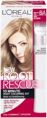 L'Oreal Root Rescue Hair Coloring Kit - #8.5A Ash Blonde (Pack of 3)