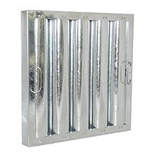 "Flame Gard Galvanized Steel Heavy-Duty Baffle Grease Filter - 16""H x 16""W"